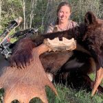 Amy McPherson of Red Lake was lucky enough to put a tag on a beautiful cinnamon-coloured bear after four successful archery spring bear seasons.