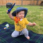 Brian Pyke of Owen Sound is starting his granddaughter early with fishing.