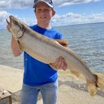 David Reed and son, Eli, were fishing off Manitoulin Island when Eli caught this 9-lb lake trout.