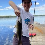 Floyd Davis of Burford and his grandson, Charlie Knill, spent Charlie's eighth birthday fishing off the dock. He hooked a 2 1/2-lb bass to boot. Happy Birthday Charlie!