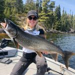 Jessica Kolshuk of Kenora was looking for lakers at one of her favourite locations, Dryberry Lake, where she caught dinner and a trophy.