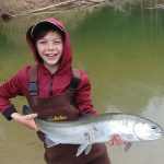 Joe Young of Keswick and William made great memories on opening weekend on a tributary east of Lake Simcoe. The trout took a pink worm and fought hard, was handled for a quick pic, and released.