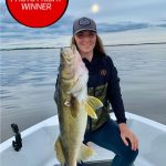 Photo Friday winner Kate Tizzard of Kenora was fishing with her boyfriend Nate and pup Pinot, targeting walleye on Lake of the Woods using Tom's Tackle Jigs and shiner minnows.