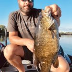 Mark Donaldson of Kawartha Lakes harvested this 6-lb smallmouth on the opening weekend of bass season and admired the stunning colours on the freshwater beast.