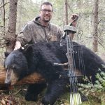 Rémi Lévesque of Smooth Rock Falls harvested his first black bear with a compound bow near Smooth Rock Falls.