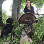 Sonya Kranzl of Bloomfield harvested her first turkey with a bow after being patient for many hours, just one day before the season closed.