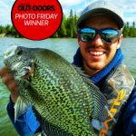 Photo Friday winner, Steven Piché of was targeting crappie in open water, using a jig and minnow with a slip bobber. He was rewarded with this 15-inch fish after finding a school in a shallow pencil weed flat.