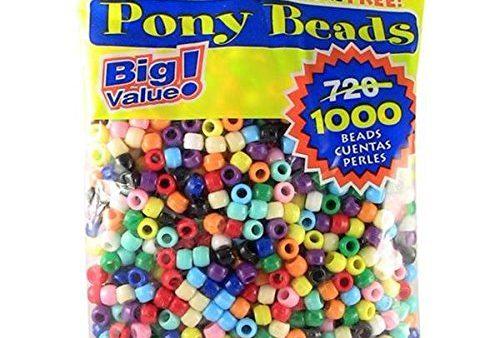 Big value bag of plastic pony beads