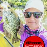 Photo Friday winner Amy Klassen of Waterford was kayak fishing on Shadow Lake when she caught this crappie on a 3-inch Berkley PowerBait Minnow.