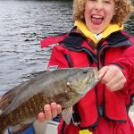Barry Schruder of North Bay went fishing with an excited Will Burlington, 11, and family.