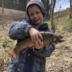Brandon and Nalen Fraser of Chepstow tossed a dew worm into a creek inBrockton and caught this 17-inch, 1.5-lb speck, taking care of supper for the evening.