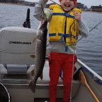 Brien Wright of North Bay spent Victoria Day weekend fishing on Lake Nipissing with his son, Nolan, who had a blast reeling in this 29-inch pike.