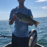 Johnathan Mago of Delhi caught this 5-lb smallmouth bass on an Angler's Choice Ridgeback Goby on a drop shot rig.