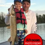 Photo Friday winner, Nicholas Spry of Manitowaning had the best little fishing buddy in Gus Spry, 5, while fishing on Lake Huron. Gus caught this 39-inch pike after casting and working a white five-inch Berkley Jerk Shad like a pro.