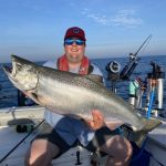 Ryan Sharpe of London caught this 22-lb chinook salmon in Lake Huron out of Grand Bend, after a 20-minute battle.