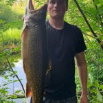 Shane White of Gananoque caught this brook trout on a hot day in a small river near Algonquin Provincial Park (where he currently works).