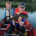 Adam Whyte of Bonfield and sons Noah, 8, and Owen, 6, went canoeing on Lake Nonbonsing, where Owen caught his personal best smallmouth using a worm on a hook.
