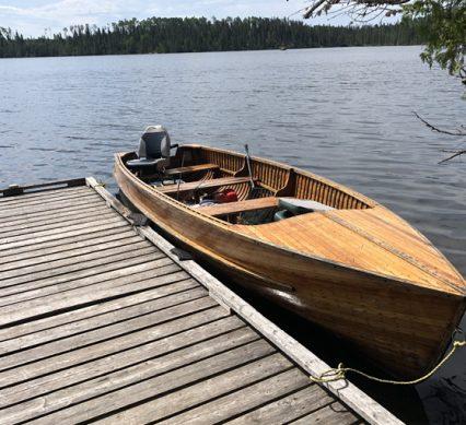 customized ride in a cedar motorboat