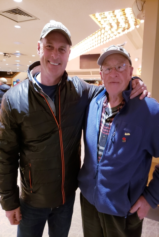 Gord Ellis and Ray Dupuis Sr.