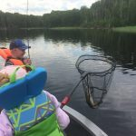 Patrick Dzijacky of South Porcupine captured Greyson, 6, and Piper, 8, Dzijacky working as a team to land a pike.