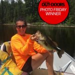 Photo Friday winner Tammy Chapman of Madoc caught and released her personal best largemouth (20.25 inches, 5 lbs) at a fly-in fishing lodge on Lawrence Lake.