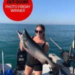 Photo Friday winner, Brittany Pouliot of London was fishing in Port Hope on August 22 when she caught this 23-lb lunker.