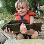 Cade Elliott-Smyth of Calgary was fishing with mum, Charlene, in Minaki, Ontario when he harvested his first smallmouth.