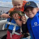 Devin Berard of Renfrew was fishing the Ottawa River with Lucas and Adam; many laughs were shared.