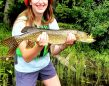 Deryck Robertson of Peterborough witnessed his daughter Evelyn's first pike caught on Kitty Lake in Algonquin Park.