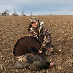 Madison Veenstra of Elmira and her dad, Robert, harvested this bird that was picking on their decoy. She used a 12-gauge Remington that her dad won at a Canadian Wild Turkey Federation banquet.