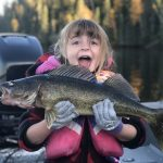 Amber Adams of Balmertown says her daughter, Emma, has been catching lots of walleye lately, including this 26-inch catch on Red Lake.