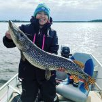 Chris Booth of Guelph snapped this photo of Sara Marroquin, who caught this 32-inch northern pike in Lake St. Joseph before releasing it.