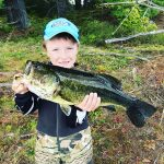 Jaxson Damario, 8, of Ennismore landed this 7.36-lb monster at the family hunting camp, unassisted, in the Haliburton Highlands.
