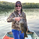 Joel Koepfler of Toronto harvested this smallmouth bass in 20-ft of water on a lake in Zone 15.