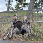 Kim Hopps of North Dumfries and husband Bryan harvested this 23-lb bird on her first turkey hunt.