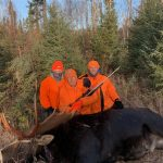 Kyle Auger of Thunder Bay, his grandfather, Allan, and hisfather, Cliff, took advantage of the pandemic-induced hockey hiatus bysharing this moose harvest, which sported a 56-inch rack in ThunderBay.