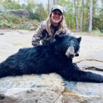 Sarah Lee of Gravenhurst harvested her first bear with her first shot from her new gun.