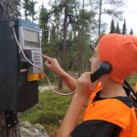 Vanessa Bender of Kenora was out with family hunting for small game when her son, Connor, found this payphone and had alaugh.