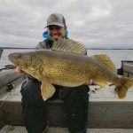 Danny Bacon of Spanish connected with his new personal best Lake Huron walleye at 31-inches, 15.23-lbs.