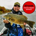 Congratulations to our Photo Friday winner, Derek Meloche of New Lowell. Derek caught this Lake Simcoe smallmouth bass on a swimbait in the fall.