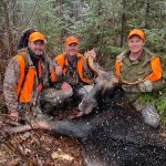 James Cathcart of Mallorytown wasn't about to let a heart surgery stop him from filling his moose tag. After suffering a heart attack at camp, he returned 20 days later, and felled the moose of his dreams with his sons, Kyle and Cole.