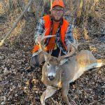 Jeff Brant of Trenton harvested his first buck ever, a handsome 12-pointer, from the Frankford area.