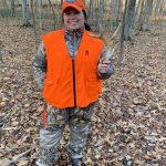 Michele Henthorne of Lakehurst found an antler shed instead of filling her tag this deer season.