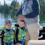 Willie Serran of Pembroke was a proud Gramps when three-year-old Brockand Slate Serran caught their first fish in Lake Clear at OpeongoMountain Resort.