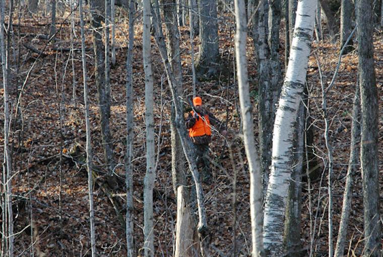 a hunter navigates terrain
