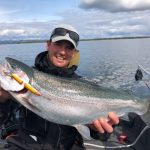 Aaron Case of Sheguiandah harvested this nice rainbow trout about a month ago on Manitoulin Island.
