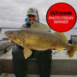 Photo Friday winner Danny Bacon of Spanish caught his new personal best, 31-inch, 15.23-lb Lake Huron walleye.