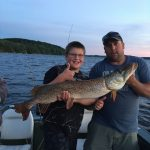Paul Mckie of Otterville and his son caught this 25-lb pike on an ultra-light and released it after taking a few photos.