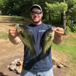 Timmy McGrath of Clinton nabbed some 13-inch crappies in northern Ontario.