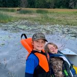 Bill Freeman of Woodstock was out fishing with his grandsons, Easton and Ryker, when they happened upon a moose friend.
